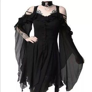 New Women Dress Gothic Ghost Steampunk Punk Fashio
